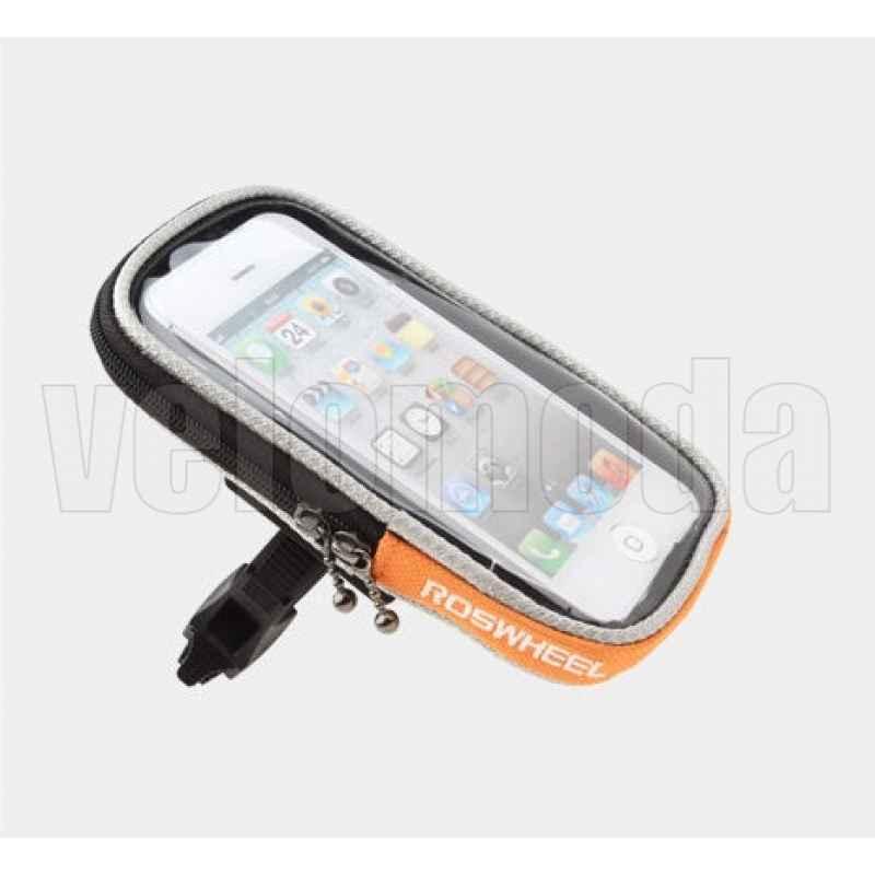 Велосипедный держатель для телефона на руль Roswheel (оранжевый)