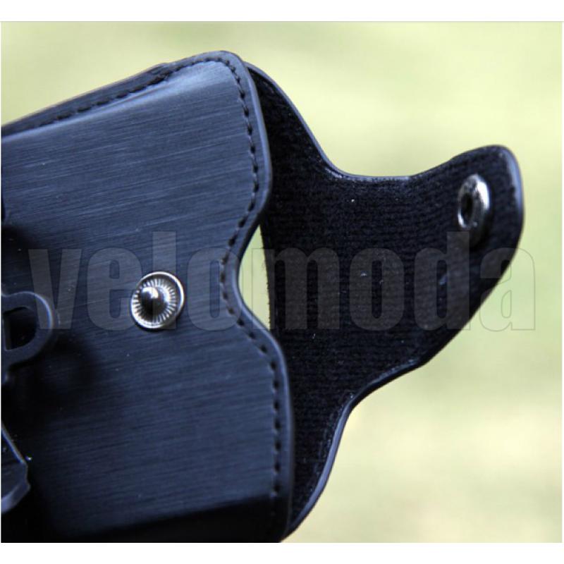 Велосипедный держатель для телефона на руль Roswheel (черная PU кожа)