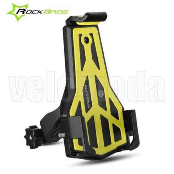 Велосипедный держатель для телефонов 3,5 - 7 дюймов Rockbros 668 (желтый)