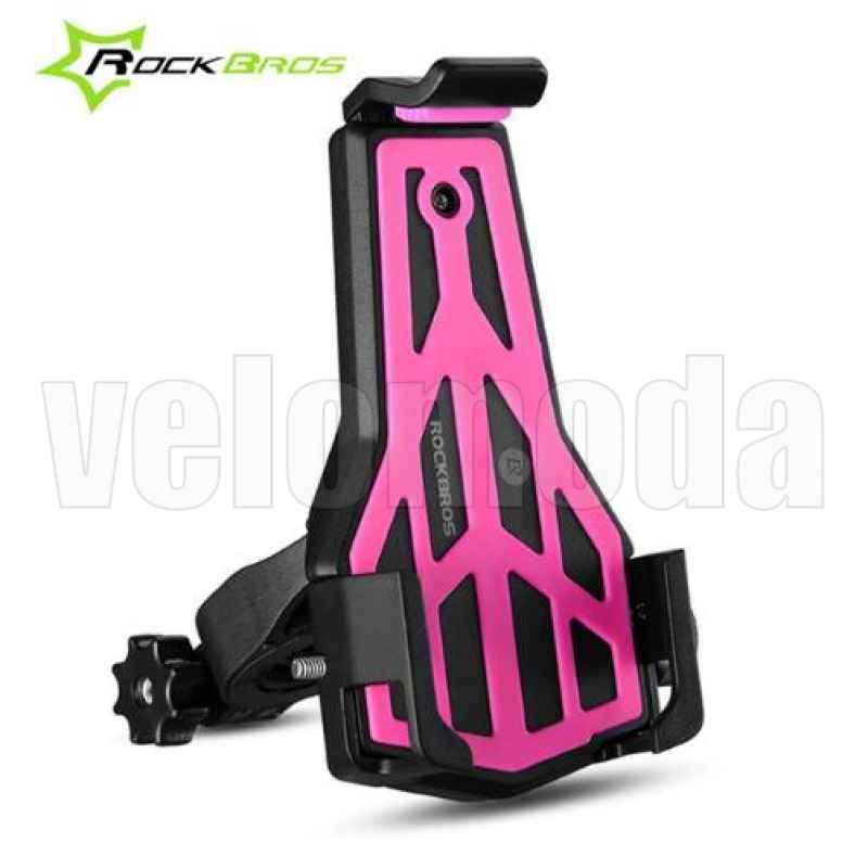 Велосипедный держатель для телефонов 3,5 - 7 дюймов Rockbros 668 (розовый)