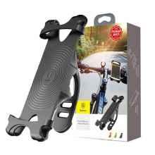 Держатель телефона на велосипед Baseus SUMIR-BY01 силиконовый (Черный)