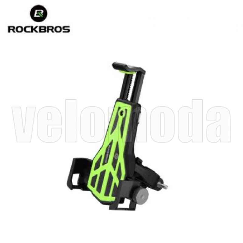 Велосипедный держатель для телефонов 3,5 - 7 дюймов Rockbros 668 (зеленый)