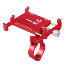 Держатель для телефона GUB PRO-2 алюминиевый (Красный)