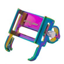 Держатель для телефона GUB P30 поворотный алюминиевый (Радуга)
