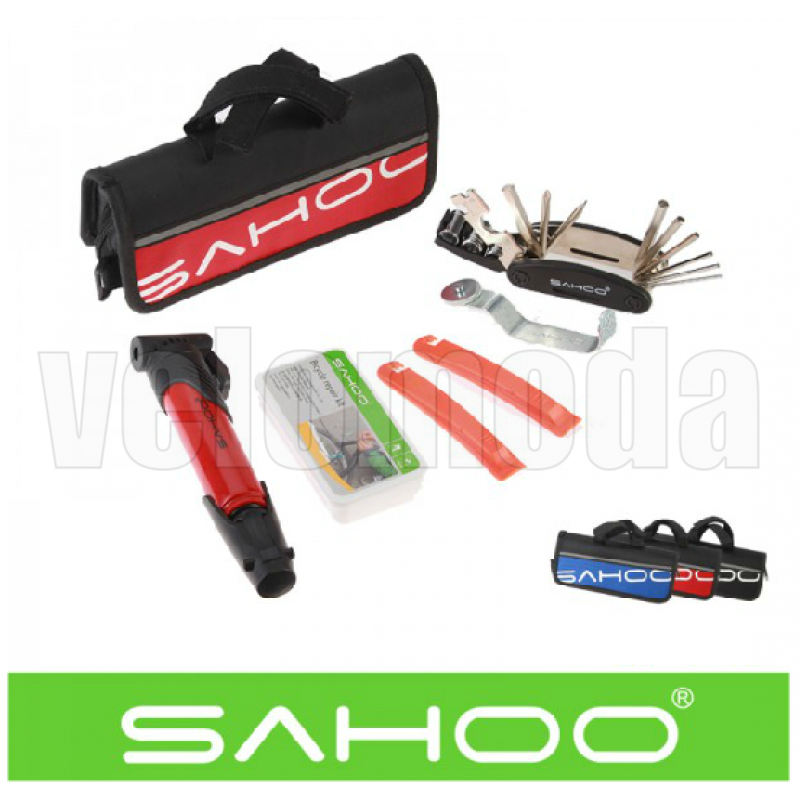 Набор инструментов для велосипеда Sahoo с насосом