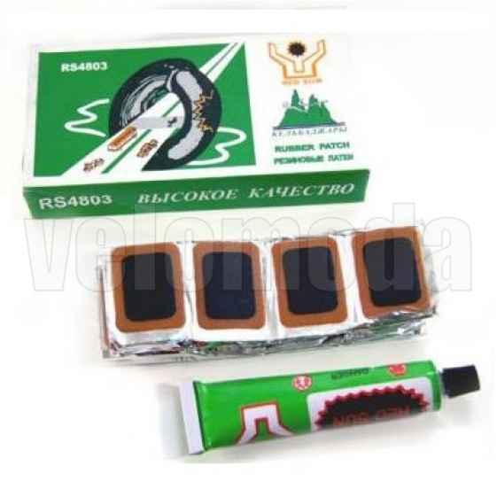 Заплатки для ремонта камер 30*20 48 шт + клей 15 мл