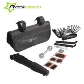 Велосумка с держателем для телефона на раму Roswheel (черная)