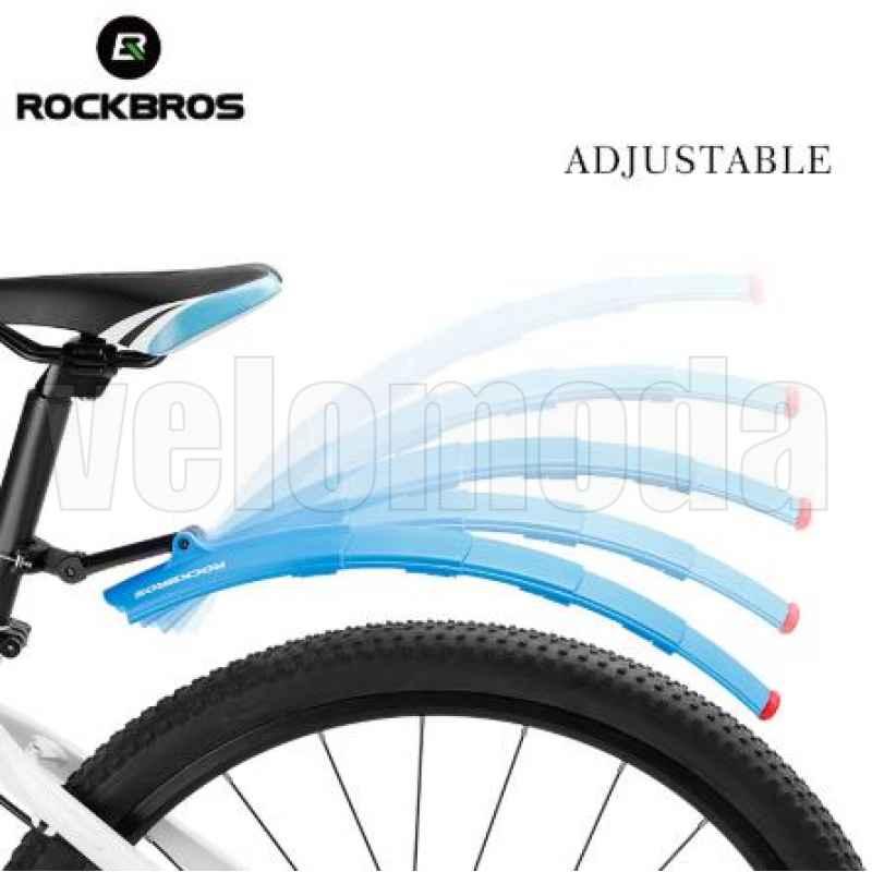Щитки для велосипеда телескопические с габаритом Rockbros DNB-1001 (красный)