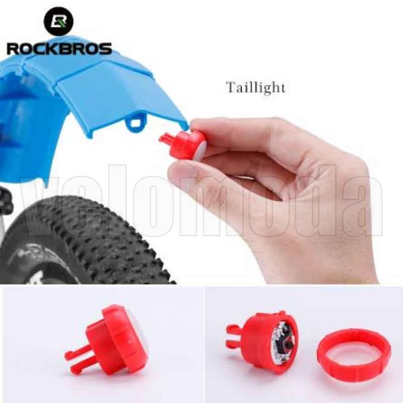 Щитки для велосипеда телескопические с габаритом Rockbros DNB-1001 (серый)
