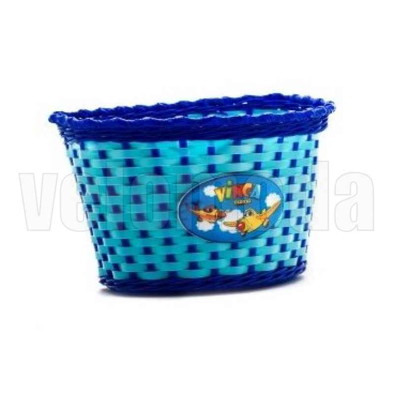 Корзинка детская на руль,подходит на руль диаметром 16,цв. синий,р- р: 240x165x155мм (арт.P 04 blue)