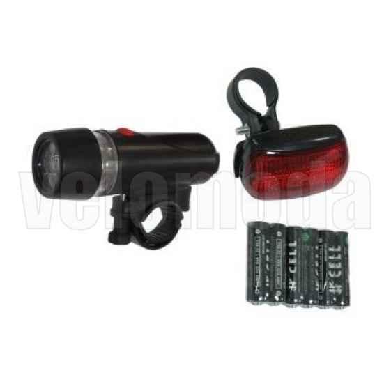 Комплект освещения SH-203B(черный- 5 диодов, 3 режима)+SH-103(5диодов, 3 режима)батарейки в компл., в торг.уп.