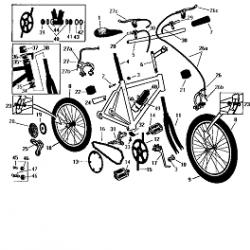 Устройство велосипеда (Схема)